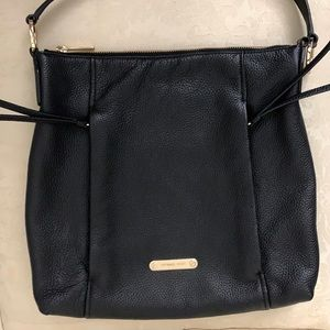 Michael Kors Black and Gold Pebble Bag